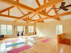 Namaste! A yoga studio directly upstairs.