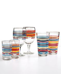 Fiesta Macys Exclusive Glassware, Sets of 4 Collection - and they have glasses too! :D