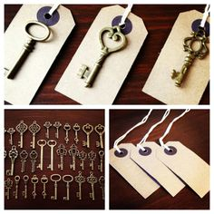 Keys to Happiness  100 Antique Bronze Skeleton by thejourneysend, $50.00