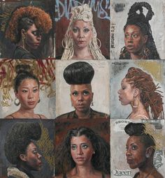 By Tim Okamura art inspir, tim okamura, artist tim, black hair, black beauti, natur, beauty, black art, curl art