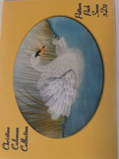 PATTERN PACK 3D2 - SWAN BY CHRISTINE COLEMAN      3D Swan with lifelike feathers and a cygnet on a lake.