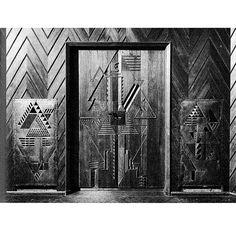 JOOST SCHMIDT   WOODEN RELIEFS FOR SOMMERFELD HOUSE IN BERLIN DAHLEM DESIGNED BY WALTER GROPIUS, 1920-21