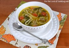 Linguine with Turkey Italian Sausage, Tomatoes, and Kale Soup