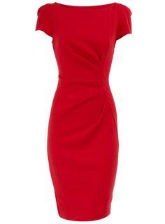 Red drape shift dress  $21.00  dorothyperkins.com