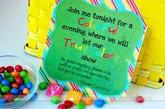 Free Invite for a fun Color Code Date Night