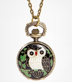 Fredflare: Antique Owl Watch Necklace - $24