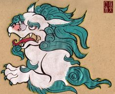 Tibetan snow lion - beautiful.