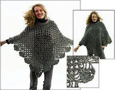 """crochet poncho """"Martha Stewart Coming Home Poncho""""! craft, free pattern, crochet poncho, coming home, martha stewart, homes, crochet patterns, crochet cloth, ponchos"""