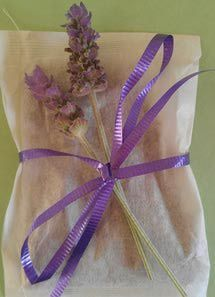 Lavender Mint Dryer Sachet Freshen your laundry with calming lavender and refreshing mint! Great as stocking stuffers, hostess gifts, teacher gifts, bridal gifts, and more, you will find many uses for them. Have fun and try making some today! Ingredients: 3 tablespoons of organic, dried lavender buds per sachet 1 tablespoon of organic, dried peppermint leaves per sachet Supplies: Natural cotton muslin drawstring bags or large, heat sealable tea bags (approximately 3 x 5 inches)