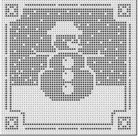 Ravelry: Filet Crochet Snowman chart.  Free pattern by Michelle Ryan.