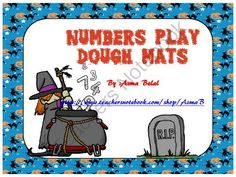 Numbers Play Dough Mats Halloween Theme from Stress Free Kindergarten on TeachersNotebook.com (24 pages)  - The download file contains 21 slides which feature 2 sets of play dough mats.