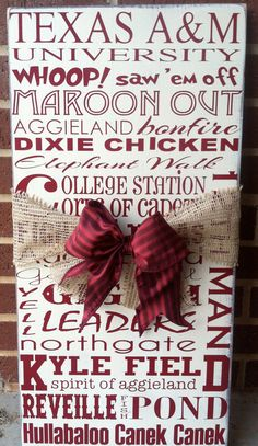 Texas A Aggie subway art by DowntownShabby on Etsy, $45.00   aggie decor Texas A Aggies