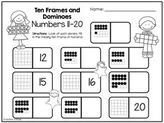 Love This! A pack of ten frame activities all with a camping theme!   Super easy to prep and the kids loved it! $