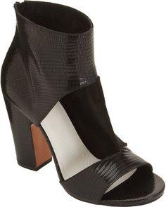 Cutout Sandal Bootie - Lyst #booties #shoes
