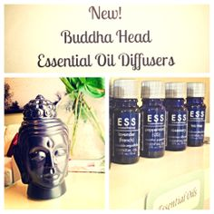 Buddha Head Essential Oil Diffusers now available at #FountainsDaySpa