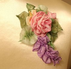 Wisteria and Pink Roses by lambsandivydesigns.com, via Flickr
