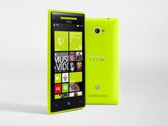 The distinctive design of the Windows Phone 8X by HTC comes with your choice of jaw-dropping colors. Choose from California Blue, Flame Red, Graphite Black and Limelight Yellow.