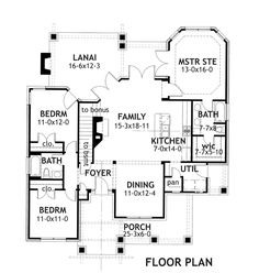 First Floor Plan of Bungalow   Cottage   Craftsman   House Plan 65870