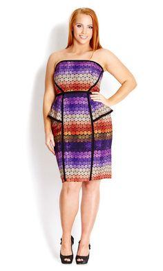 City Chic Spring Dresses- Plus Size Confetti Dress