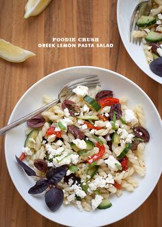 Greek Lemon Pasta Salad