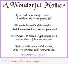 Love u mom poem mothers are always wonderful more mothers poems
