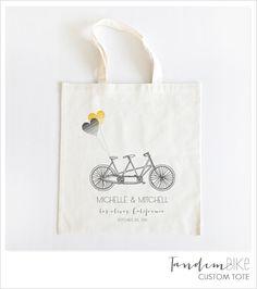 tandem bike custom tote