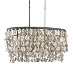 Love! Stillwater Oyster Shell Chandelier from Currey & Co.