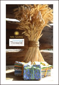 Our delightful sponsor for Leafs me Happy- Connecting Threads with 3 fat quarter bundles of Hello Sunshine....