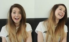 zoella, I want her hair color love the ombre