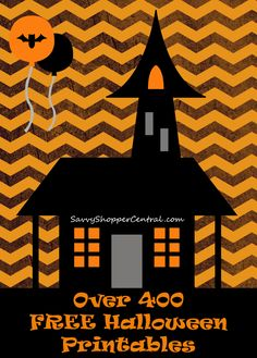 Over 400 FREE Halloween Printables - Coloring pages, subway art, and more