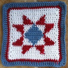 Quilted star dishcloth ~ free pattern
