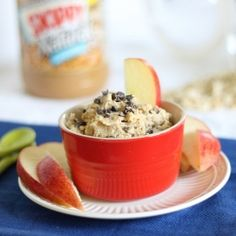 Peanut Butter Cookie Dough Dip. A healthy version without a single ingredient you will feel bad about eating. Dig in!