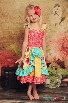 Sarafina's Fitted Party Dress PDF Pattern by CreateKidsCouture