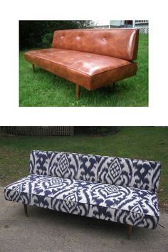 Before & after - upholster sofa. choose your own fabric