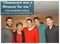"Lynn's #GetCovered Story: ""Obamacare was a lifesaver for me."" - Lynn Gardner Hinkle, Mother of 4 & Entrepreneur."