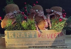 Decorated wooden cheese  box