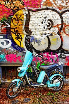 Street Art in Amsterdam #budgettravel #travel #streetart #art #street #mural www.budgettravel.com