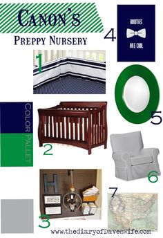 the Diary of DavesWife: Baby Boy Nursery Inspiration Board