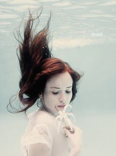 lady in the water, under water
