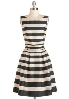 Chic Monochrome Dress