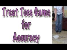 Treat Toss Game to improve your accuracy when tossing treats to your dog after clicking.