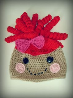 Lalaloopsy inspired hat - free pattern