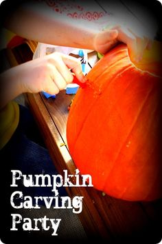 How to: Pumpkin Carving Party #DIY