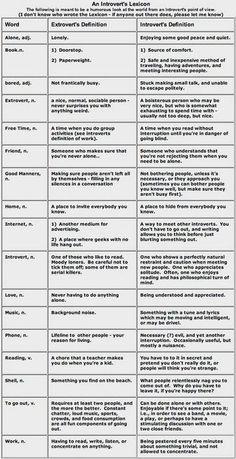 An Introvert's Lexicon