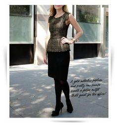 Professionelle: What We Wear: Metallic Peplum Pencil Skirt