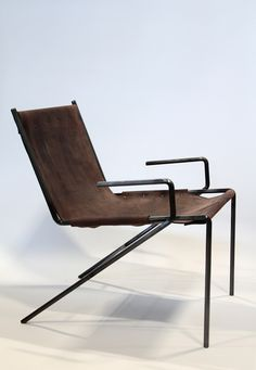 Eric Trine; #5 Metal and Leather Prototype Chair, 2012.