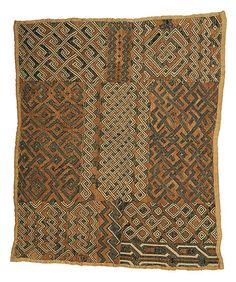 Africa | Kuba cloth from the DR Congo | Palm fiber raffia