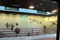 Michigan Ave. People Mover Station