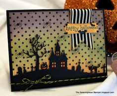The Serendipitous Stamper: The Haunted Hill with a Creepy Fun Treat