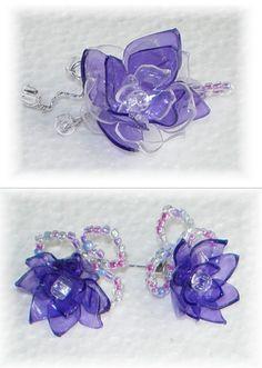 Aretes de envases pet. / Plastic bottle earrings